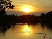 Sonnenuntergang, Ruhe, Gelb, Gold
