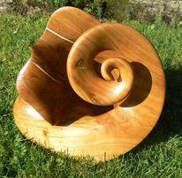 Kirschholz, Fantasie, Holz, Spirale