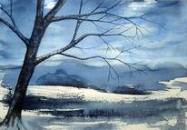 Baum, Aquarell