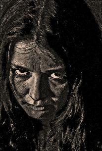 Böse, Frau, Blick, Fotografie