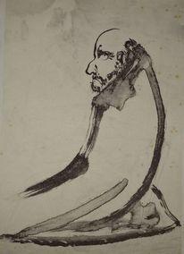 Sumi, Japanpapier, Zeichnung, Meditiation