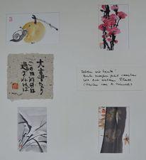 Jahreszeiten, Zeichnung, Sumi, Haiku
