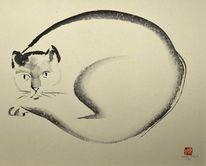 Sumi, Malerei, Katze,