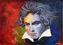 Portrait, Beethoven, Pop art, Köln