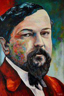 Gemälde, Portrait, Acrylmalerei, Gelb