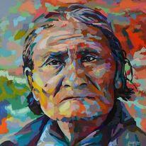 Acrylmalerei, Menschen, Modern, Indianer