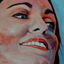 Zeitgenössisch, Malerei, Rouge, Acrylmalerei