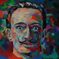 Porträtmalerei, Modern, Zeitgenössisch, Spachteltechnik