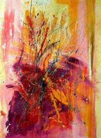 Feuer, Abstrakt, Gelb, Blumen