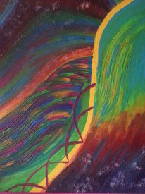 Universum, Acrylmalerei, Farben, Bezaubernd