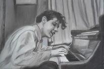 Pastellmalerei, Klavier, Malerei,