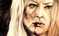 Portrait, Wut, Frau, Zorn