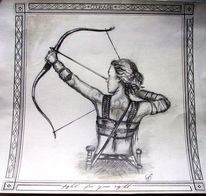 Bogenschützin, Waffe, Frau, Kriegerin