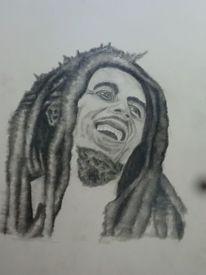 Pastellmalerei, Reggae, Portrait, Zeichnung