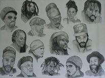 Pastellmalerei, Reggae, Portrait, Malerei