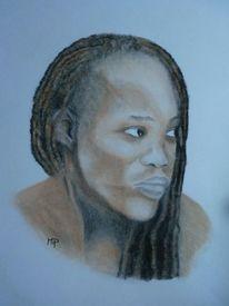 Portrait, Reggae, Pastellkreiden, Zeichnungen
