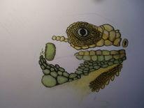 Varan, Echse, Pastellmalerei, Tiere