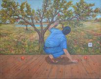 Surreal, Menschen, Fantasie, Ölmalerei