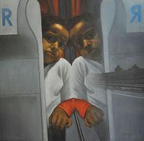 Einsamkeit, Ölmalerei, Realismus, Menschen