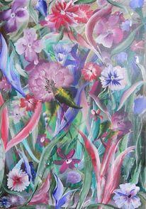 Frühling, Blumen, Fantasie, Malerei
