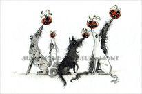 Kürbisse, Terrier, Mischling, Hund
