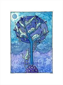 Traum, Nacht, Baum, Stern