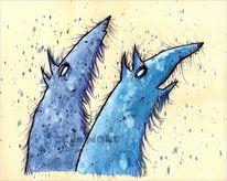 Blau, Hund, Wilde, Wolf