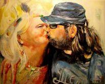 Gegenständlich, Gazmend freitag paintings, Kuss, Gazmend freitag
