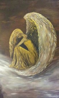Acrylmalerei, Engel, Malerei
