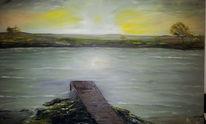 Landschaft, Ölmalerei, Wasser, Malerei