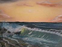 Meer, Ölmalerei, Landschaft, Malerei