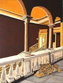 Halle, Tiger, Villa, Malerei
