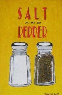Pfeffer, Salz, Pferrer, Malerei