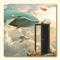 Traum, Vogel, Wolken, Wal