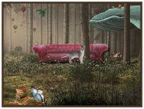Wald, Traum, Natur, Vogel