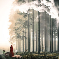Rotkäppchen, Wald, Natur, Frau