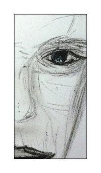 Mann, Ölmalerei, Kreide, Zeichnungen