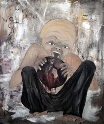 Zerstörung, Menschen, Malerei, Sitzen
