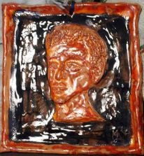 Selbstportrait, Ton, Lava, Dübler