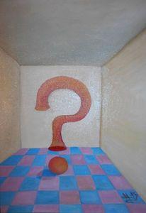 Frage, Kugel, Raum, Fragezeichen