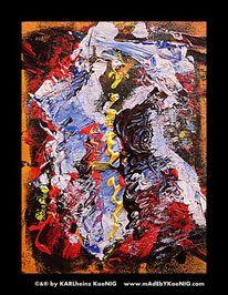 Rot schwarz, Gold, Abstrakt, Malen
