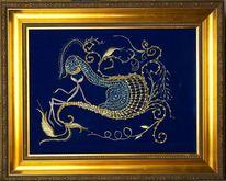 Fantasie, Textilkunst, Alien, Gold
