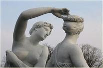 Himmel, Statue, Abend, Skulptur