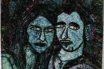 Frau, Portrait, Mann, Menschen