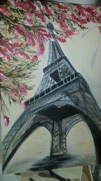 Paris, Architektur, Eiffelturm, Malerei