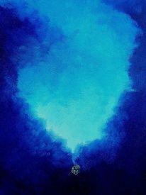 Kristall, Blau, Malerei,