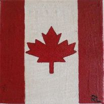 Weiß, Landesflagge, Ahorn, Landschaft