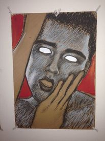 Portrait, Angst, Teufel, Blind