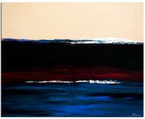 Blau, Wandbild, Wien, Rot schwarz