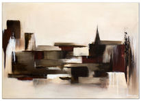 Handgemaltes, Wandbild, Wandbilder, Abstrakt